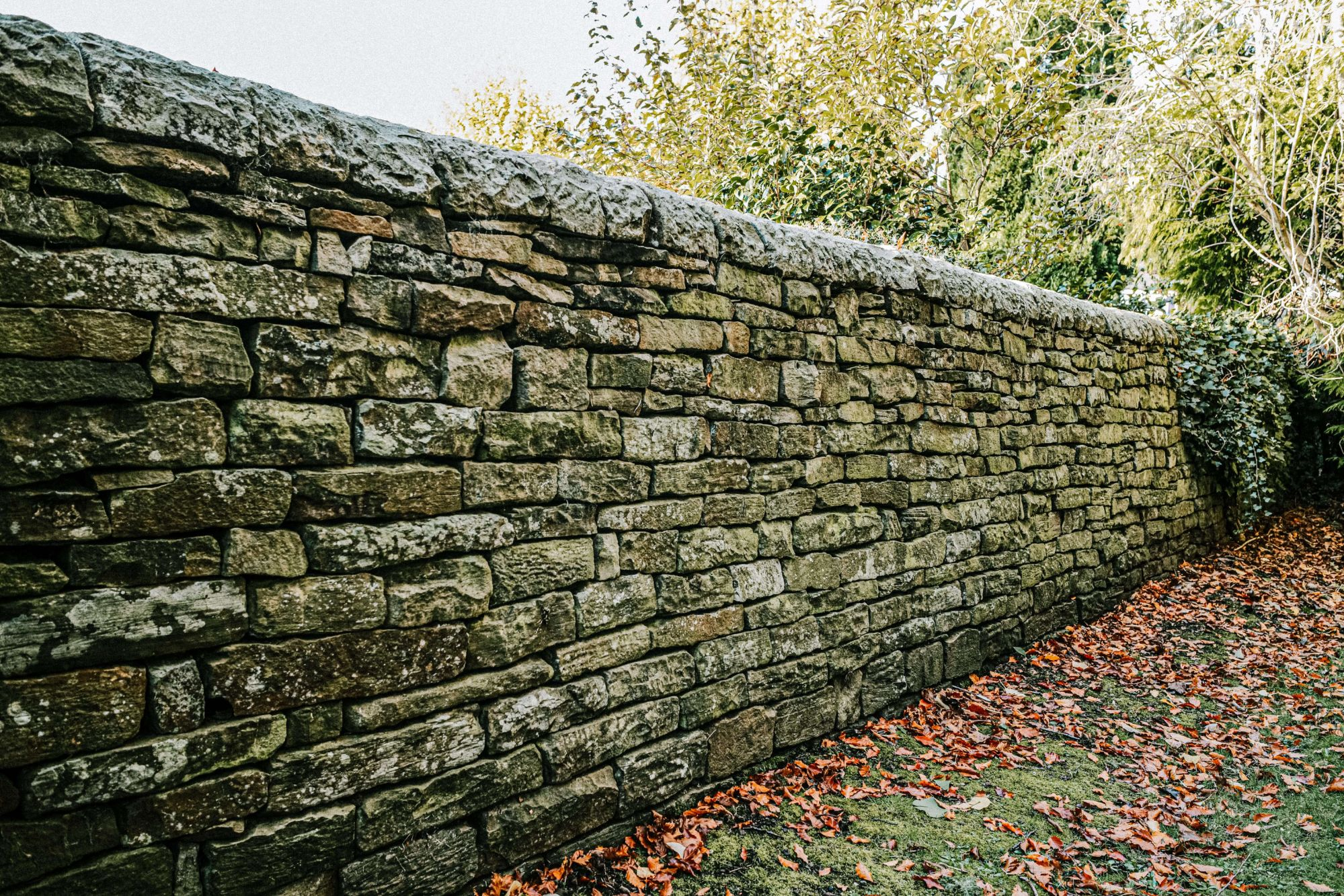 A photo of a dry stone wall repair in Holymoorside in Chesterfield