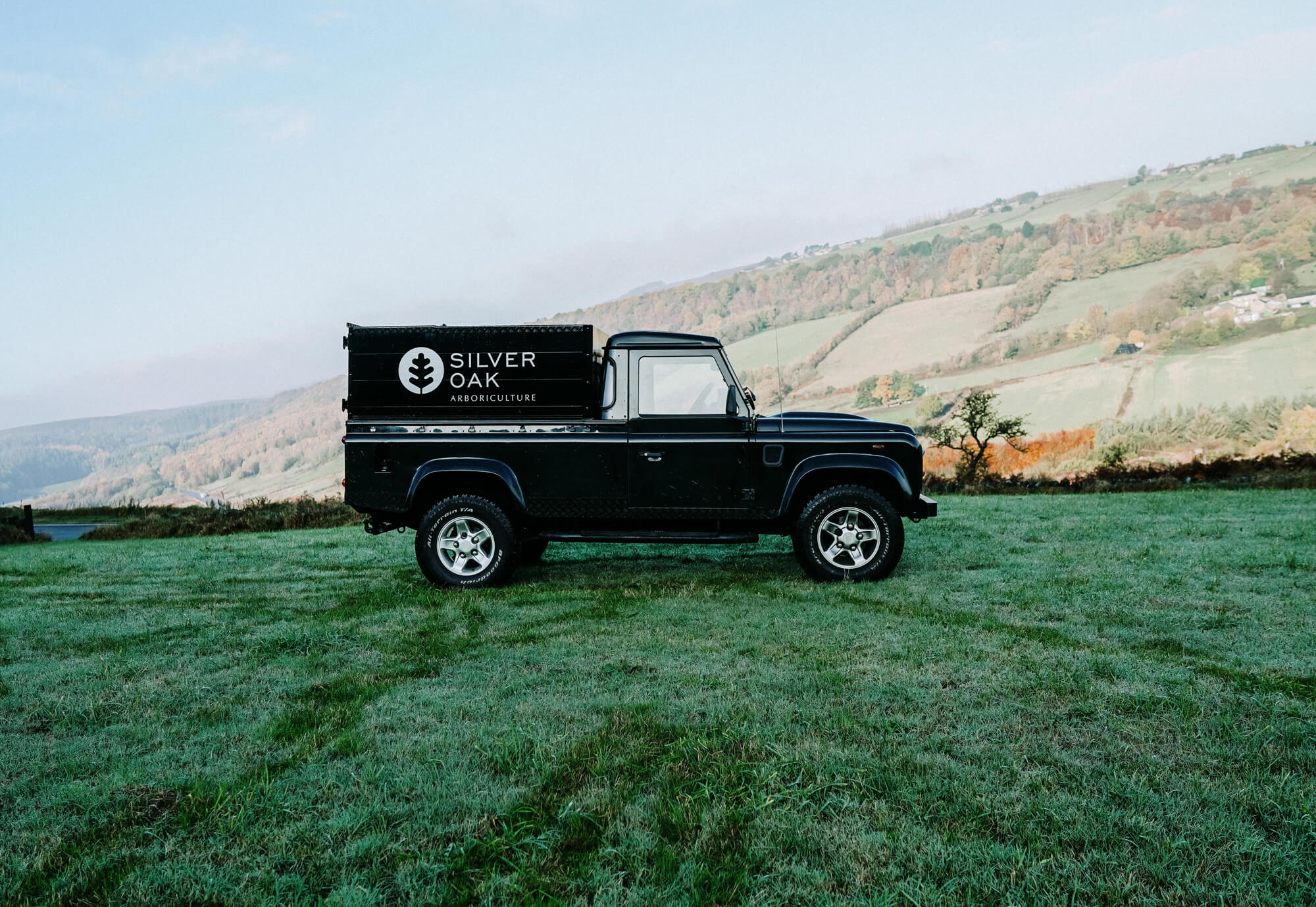 A photo of the Silver Oak Land Rover with views over Rivelin